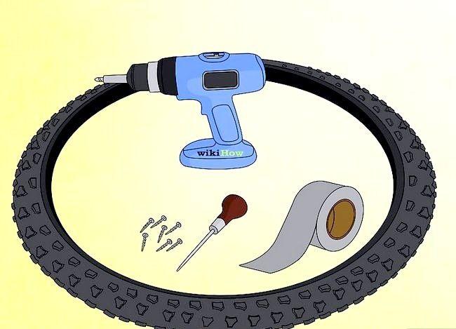 छवि स्टैडड हिम टायर्स चरण 1 में कन्वर्ट साइकिल टायर्स