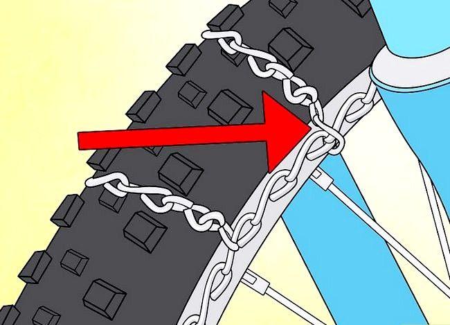 धमाकेदार बर्फ टायर्स में कन्वर्ट साइकिल टायर शीर्षक से छवि चरण 16