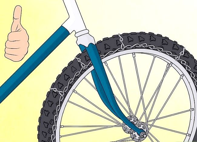 धमाकेदार बर्फ टायर्स में कन्वर्ट साइकिल टायर शीर्षक वाली छवि चरण 17