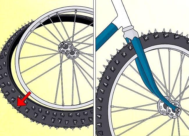 स्टुडेड हिम टायर्स में कन्वर्ट साइकिल टायर्स शीर्षक वाली छवि चरण 5