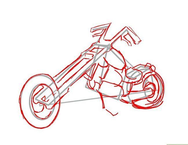 चित्र ड्रा करें एक मोटरसाइकिल चरण 11