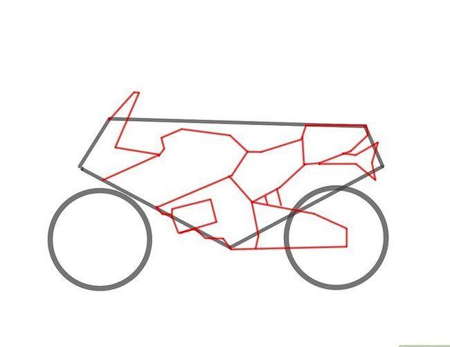 चित्र ड्रा करें एक मोटरसाइकिल चरण 3