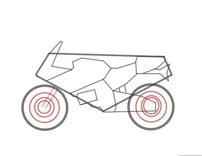 चित्र ड्रा करें एक मोटरसाइकिल चरण 4