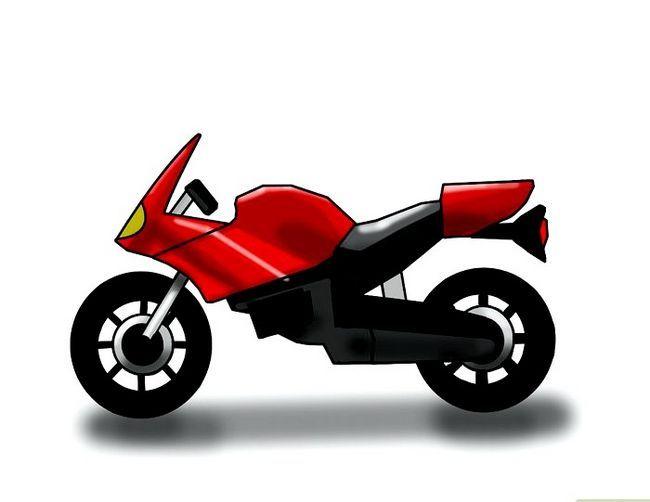 चित्र ड्रा करें एक मोटरसाइकिल चरण 6