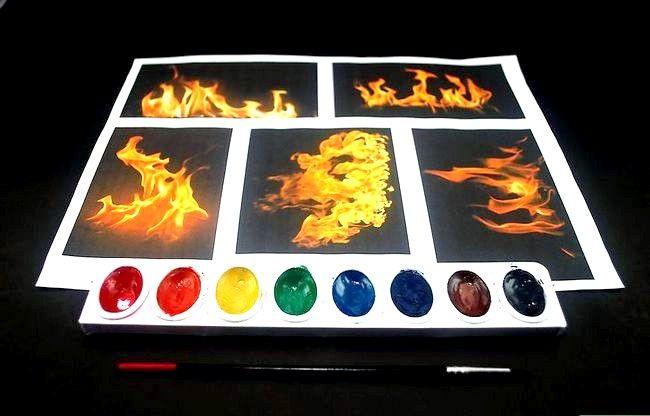 कैसे आग पेंट करने के लिए