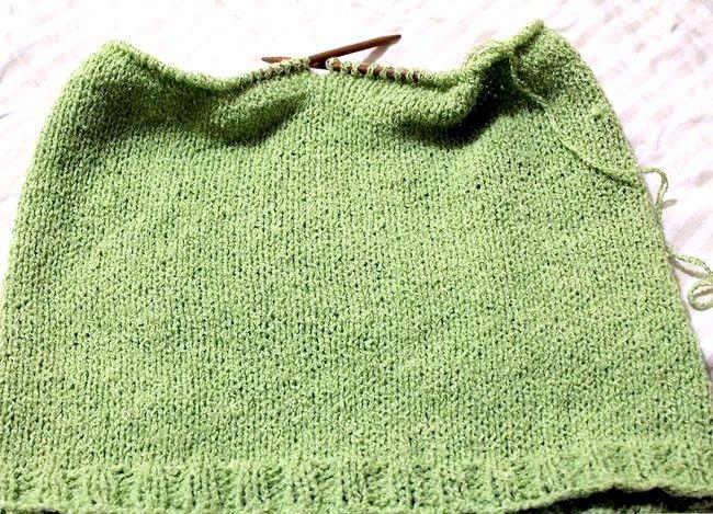 निट ए रागालन स्लीइव स्वेटर स्टेप 3 नामक छवि