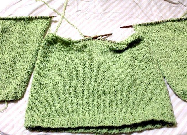 निट ए रागालन स्लीइव स्वेटर चरण 4 नामक छवि