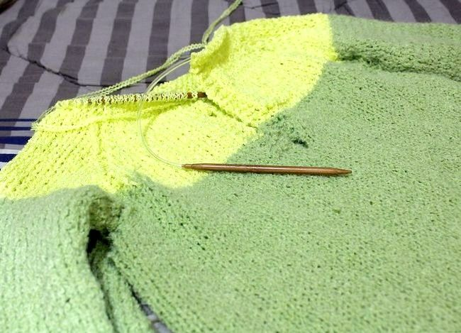 निट ए रागलन स्लीइव स्वेटर चरण 10 शीर्षक वाली छवि