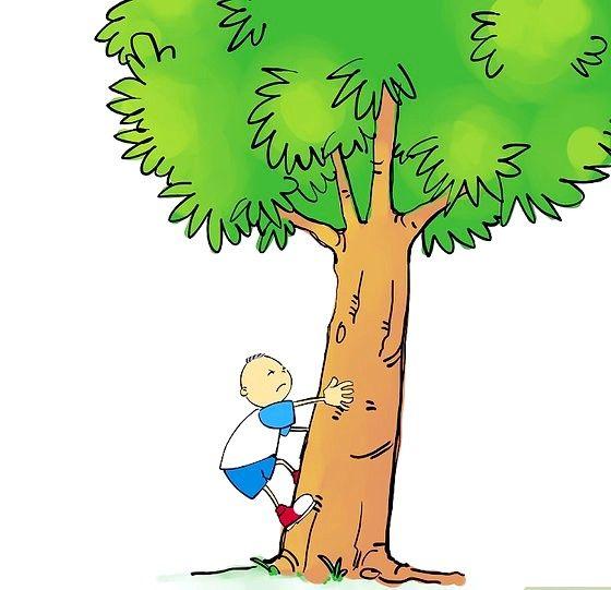 शीर्षक वाला छवि 04 कूदो और पेड़ पर दोनों पैरों को रोके। चरण 04