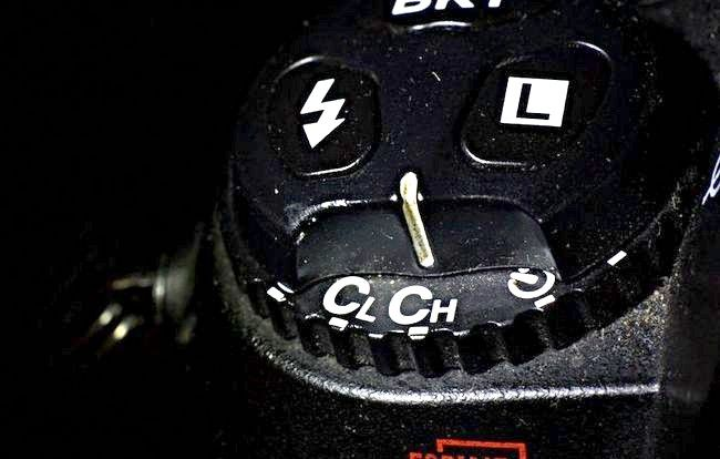 छवि D2H में मोड चयनकर्ता Ch पर सेट (सतत / हाई स्पीड)।