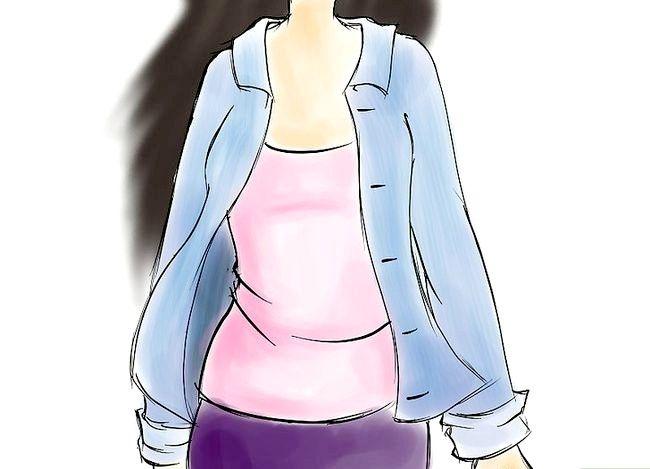 चित्र शीर्षक से एक डेनिम शर्ट चरण 2 पहनें