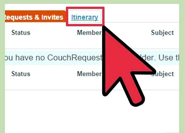 Couchsurfing सोफे प्रबंधक इनबॉक्स चरण 11 का उपयोग शीर्षक वाली छवि