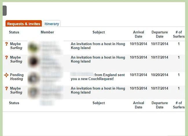 Couchsurfing सोफे प्रबंधक इनबॉक्स चरण 17 का उपयोग करें शीर्षक वाला छवि