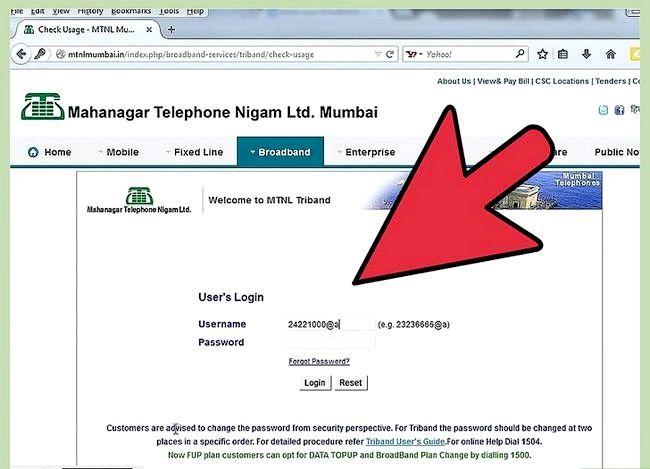 एमटीएनएल चरण 9 में इंटरनेट डेटा उपयोग की जांच करें