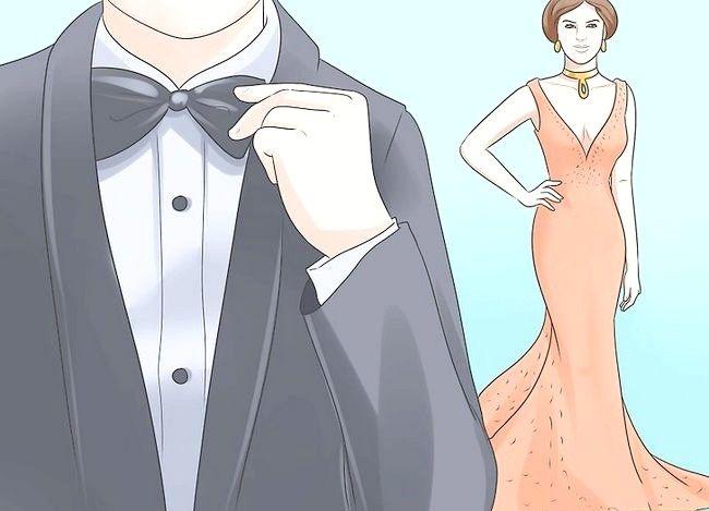 एक काले टाई इवेंट चरण 5 के लिए ड्रेस नाम वाली छवि